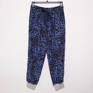Aerie Blue Leopard Print Soft PJ Pants L NWT